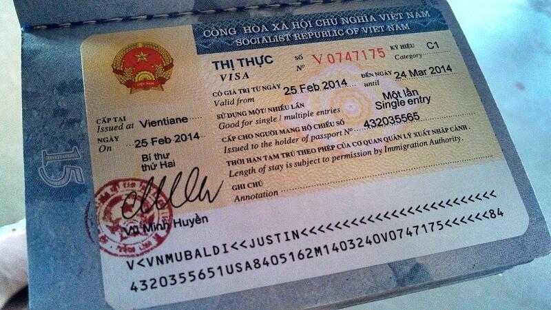 Thủ tục xin visa vào ViệtNam cho người nước ngoài