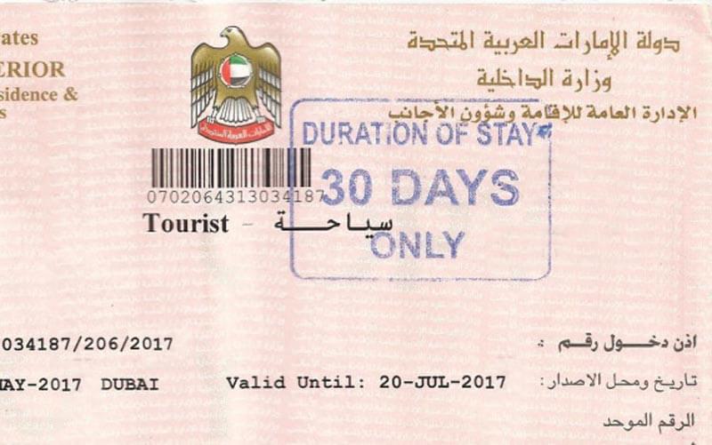 Visa du lịch Dubai 30 ngày
